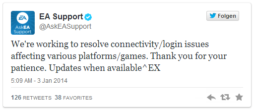 Twitter EA Support