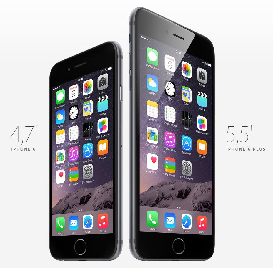 iPhone 6 und iPhone 6 Plus Design