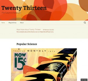 Neues WordPress Theme - Twenty Thirtheen