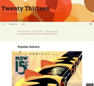 Neues WordPress Theme - Twenty Thirtheen