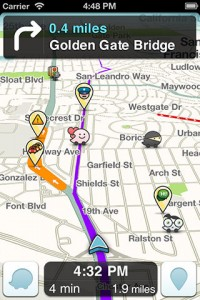 Verkehrsnavigation mit der App Waze