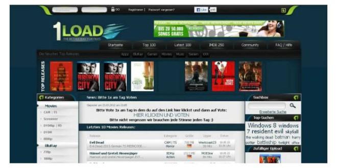 1load.net von der Staatsanwaltschaft abgeschaltet