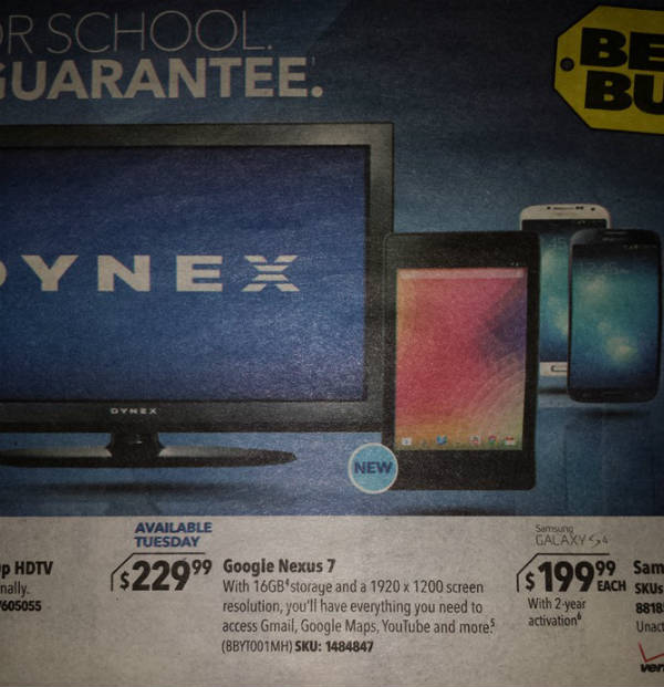 Google Nexus 7 bei Best Buy