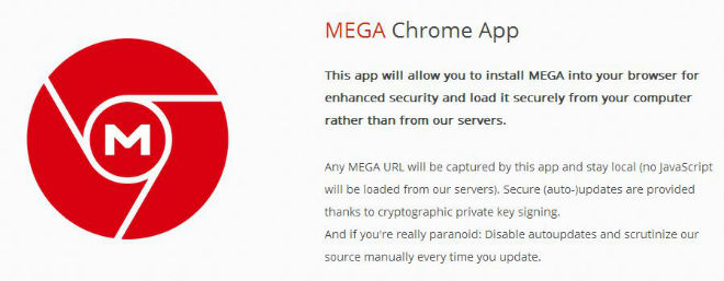 MEGA Chrome App