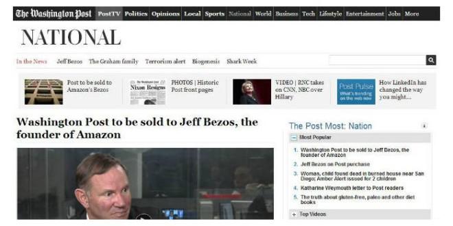 Jeff Bezos kauft sich die Traditionszeitung Washington Post