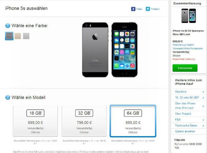 Apple iPhone 5S - Verand ab Oktober