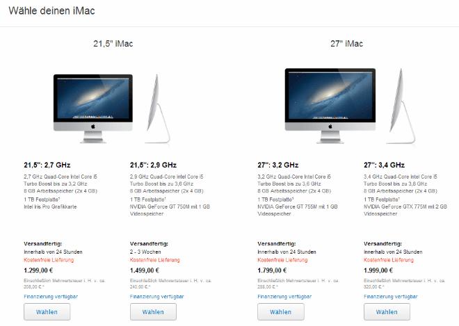 AppleStore mit neuen iMacs