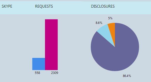 Behördenanfragen Skype 2013