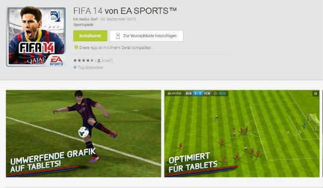 Fifa 14 für Android von EA Sports