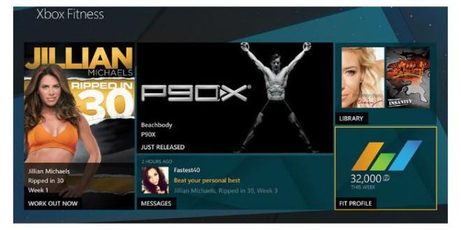 FitnessApp für die Microsoft Xbox One