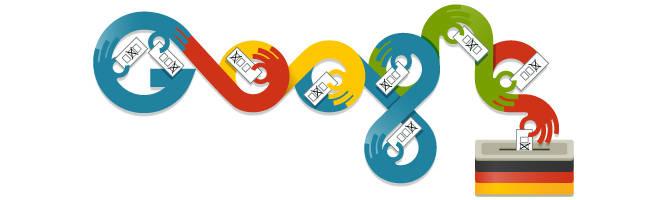 Google Doodle zur Bundestagswahl 2013