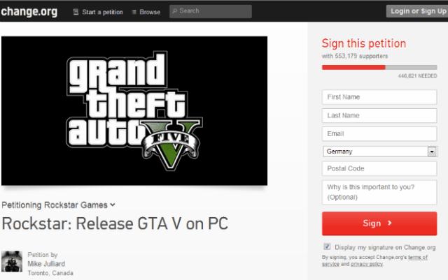 GTA 5 Petition