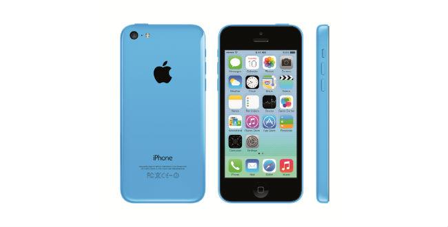 iPhone 5c mit blauer Hülle