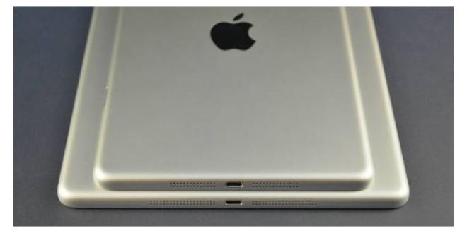 Rückseite des iPad 5 in Spacegrau und Silber
