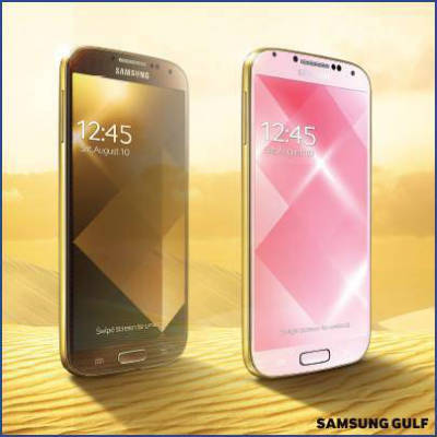 Samsung Galaxy S4 in Gold Brown und Gold Pink