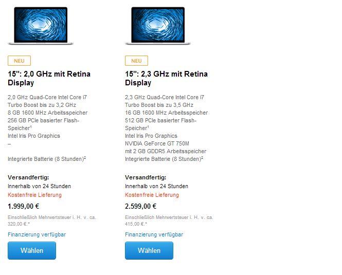 15 Zoll MacBook Pro