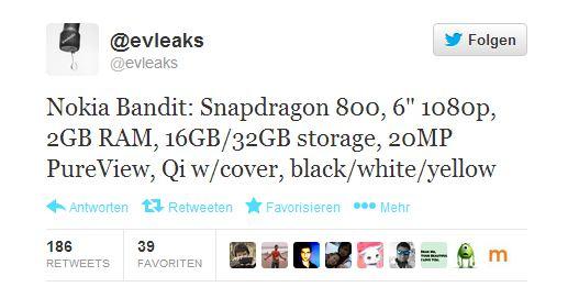 @evleaks zum Nokia Lumia 1520