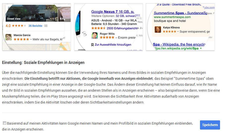 Google erlauben Daten zu nutzen