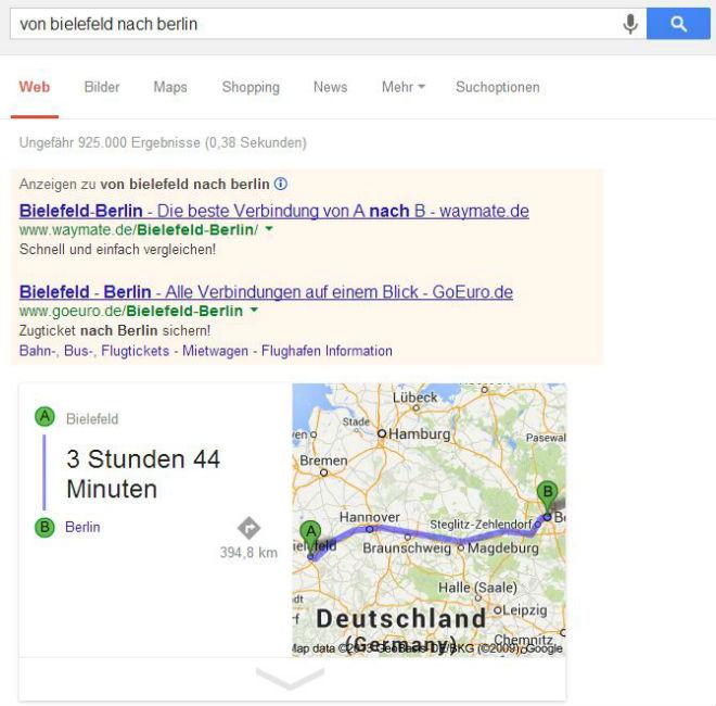 Google Maps - Routenplanung