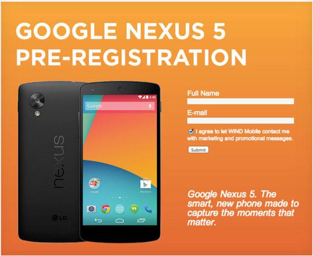 Google Nexus 5 Vorbestellung