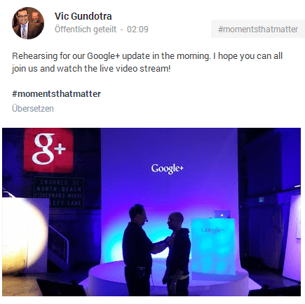 Google Plus Event