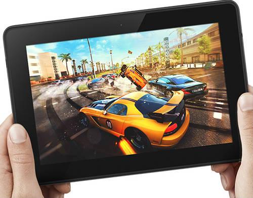 Kindle Fire HDX mit Konsolengrafik