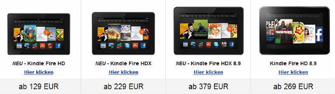 Kindle Fire HDX - Preisvergleich