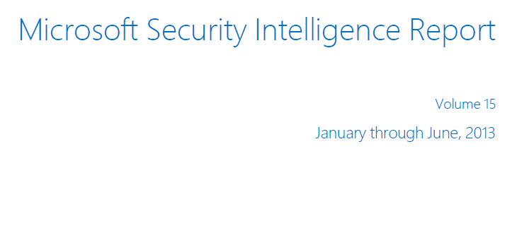 Microsoft Security Report Intelligence
