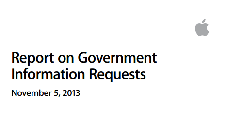Apple Reports on Fobernment Information Requests
