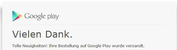 Google Nexus 5 Auslieferung der Google Play Store Bestellung