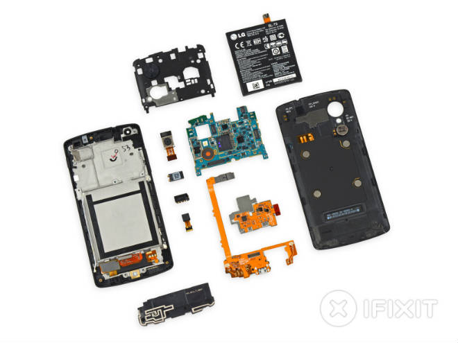 Google Nexus 5 Bestandteile