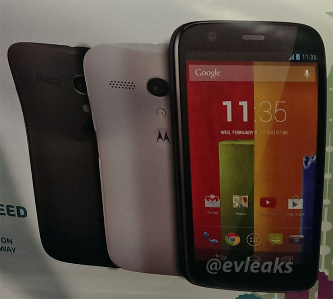 Motorola Moto G Black White