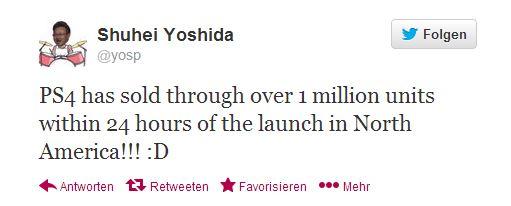 PlayStation 4 Erfolgsmeldung