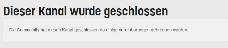Twitch TV - Kanal geschlossen