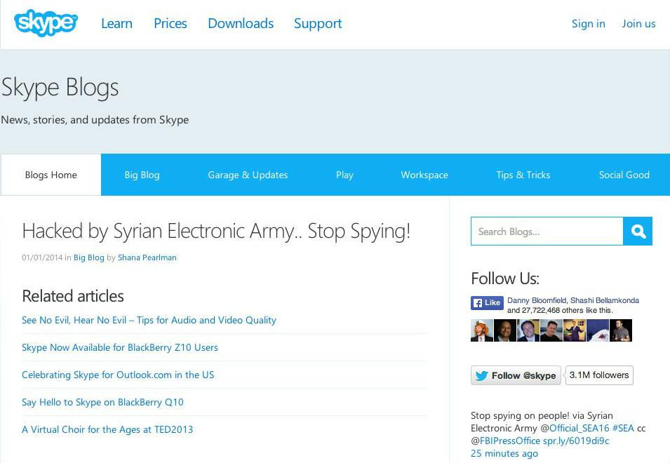 Skype Angriff