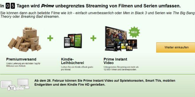 Amazon Videoservice Prime