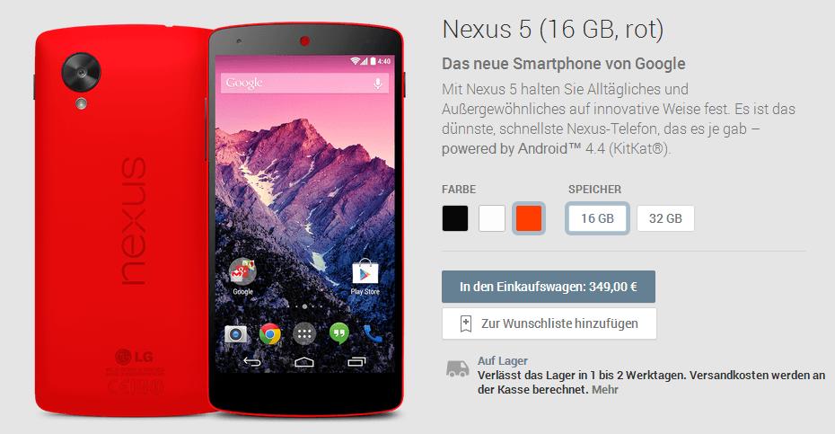 Google Nexus 5 Rot