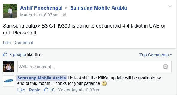 Samsung Galaxy S3 bekommt Android 4.4 Kitkat