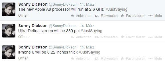 Sonny Dickson mit Infos zum iPhone 6