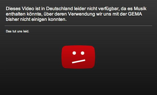Sperrvermerk Youtube