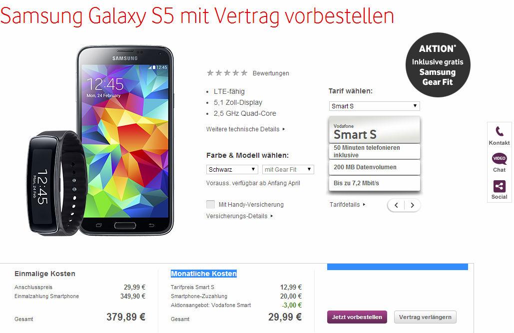 Vodafone Samsung Galaxy S5