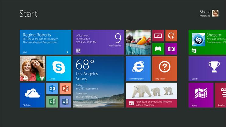 Windows 8 Oberfläche