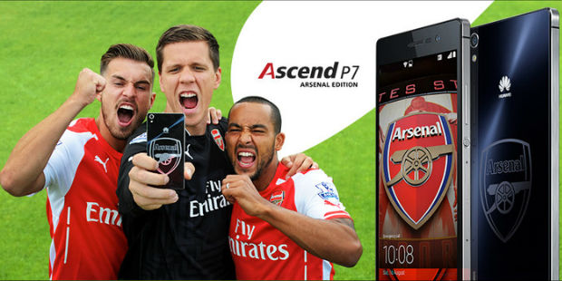 Huawai Ascend P7 Arsenal London Edition