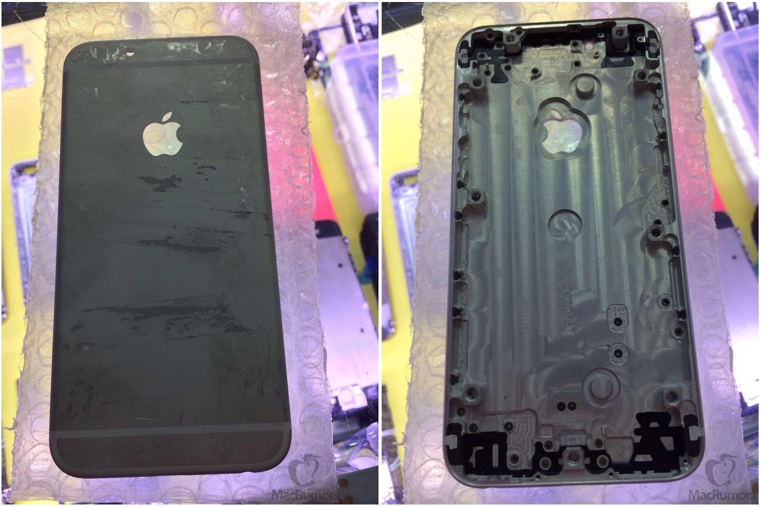 iPhone 6 Rückseite in Schwarz