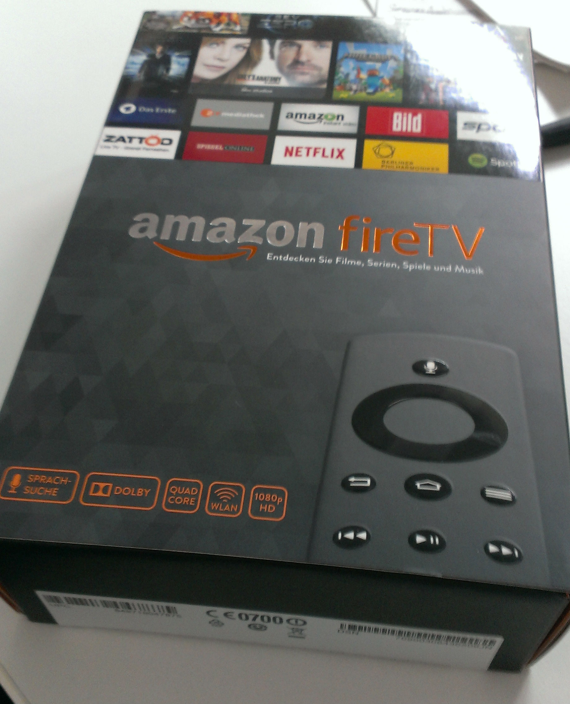 Amazon Fire TV in Original-Verpackung