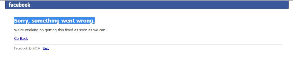 Facebook erneuter Ausfall