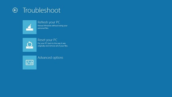 Resetfunktion von Windows 8 - Behebung von Fehlern