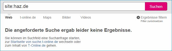 Hannoverische Allgemeine Zeitung mit T-Online