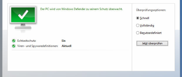 Windows Defender unter Windows 8