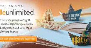 Amazon startet E-Book-Flatrate Kindle Unlimited in Deutschland